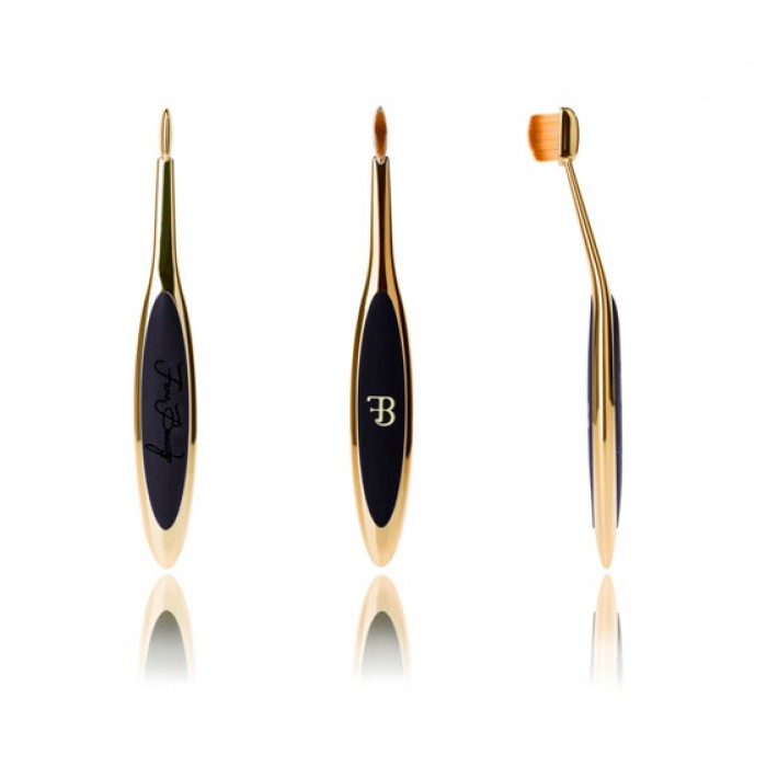 Gold Oval Makeup Brush Linear2