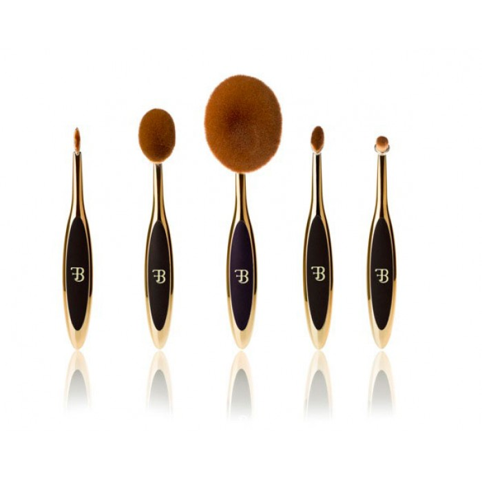 Fara Beauty Gold Oval Make Up Brush